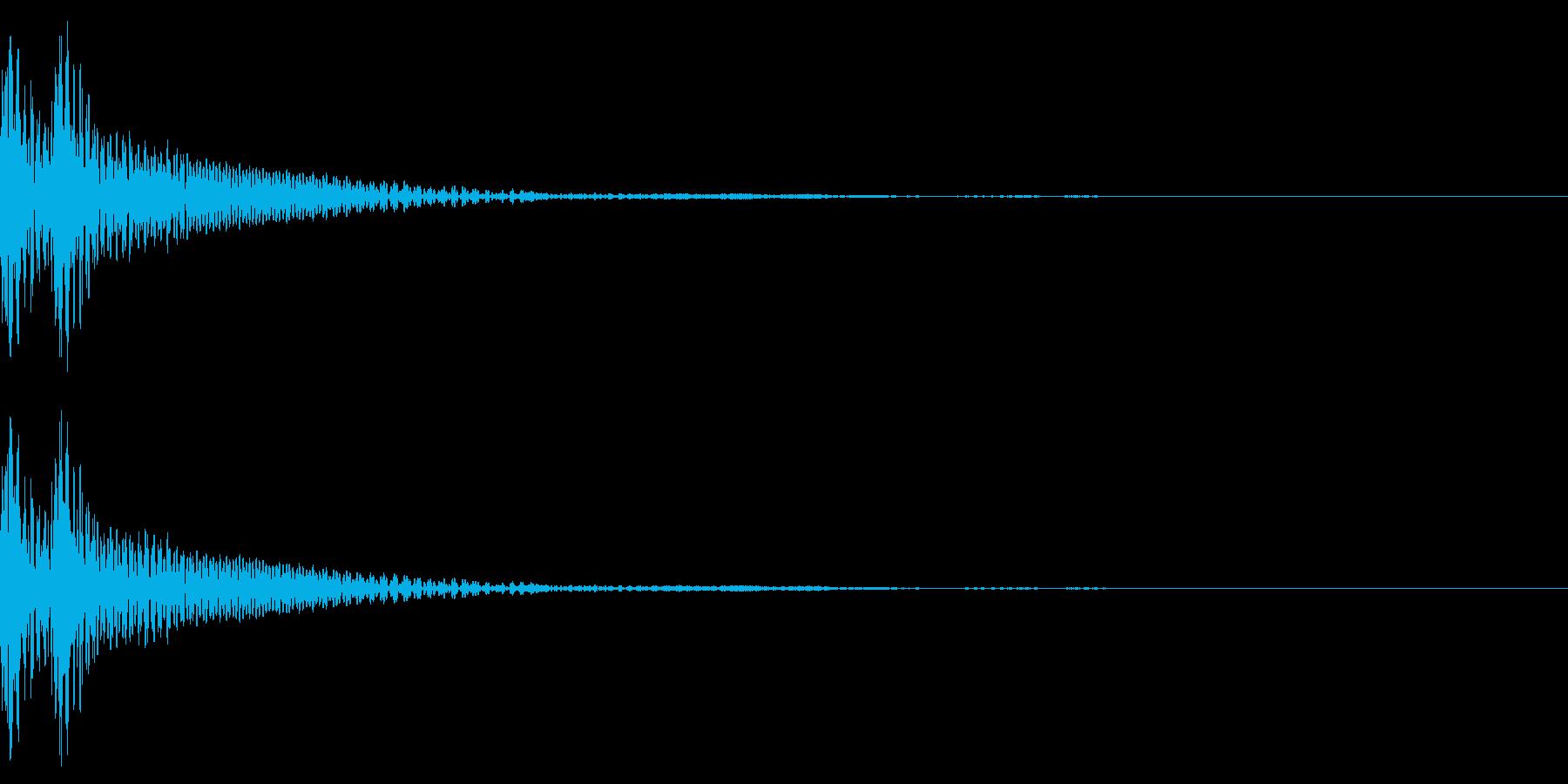 和風「ドドン」大太鼓+大鼓 速めの再生済みの波形