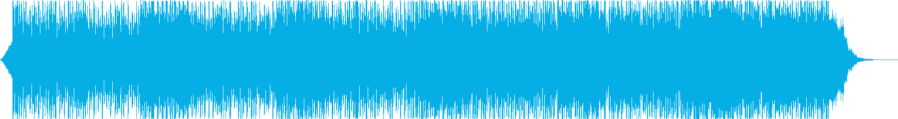 ピアノとシンセパッドのミディアムハウスの再生済みの波形