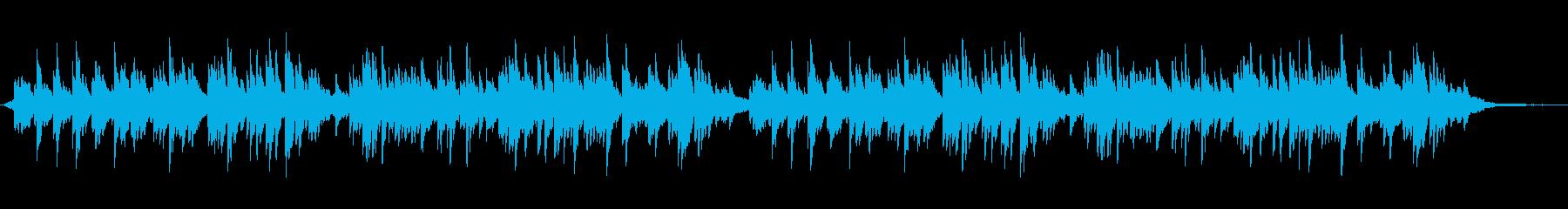 やさしいアンビエント調のピアノ曲の再生済みの波形