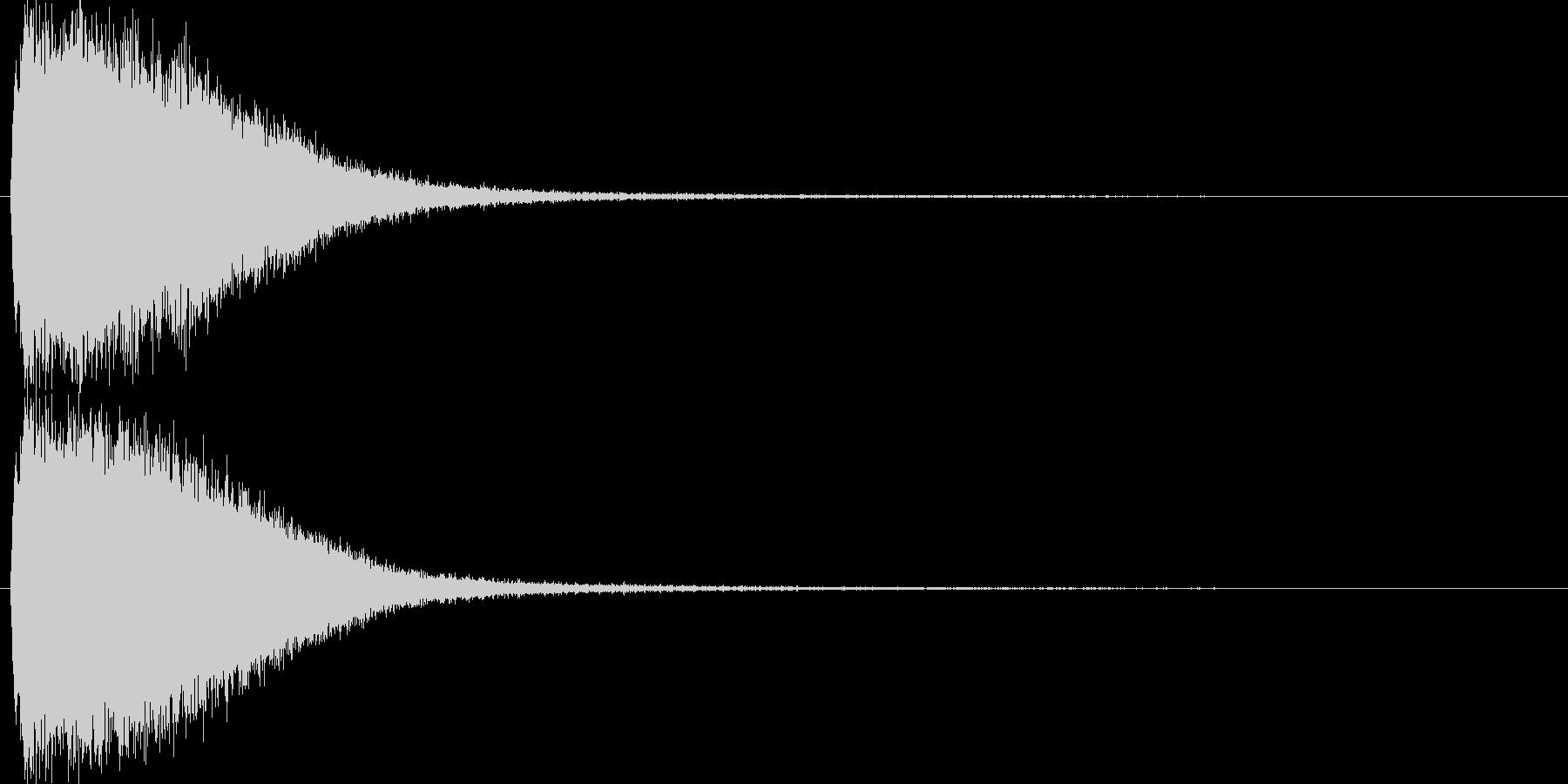 注意を引くインパクトのある音#7の未再生の波形