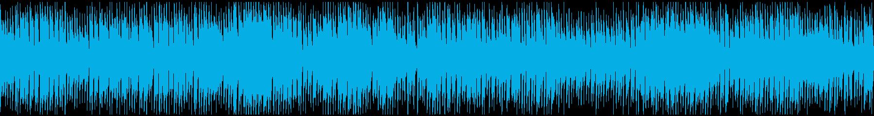 大騒ぎコメディ、どたばた早い曲※ループ版の再生済みの波形