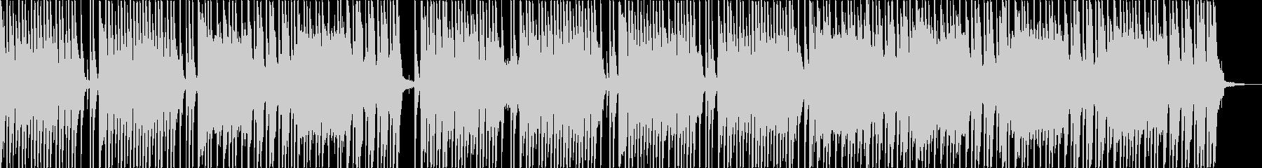 ドラムのリズムに軽快なキーボードの未再生の波形