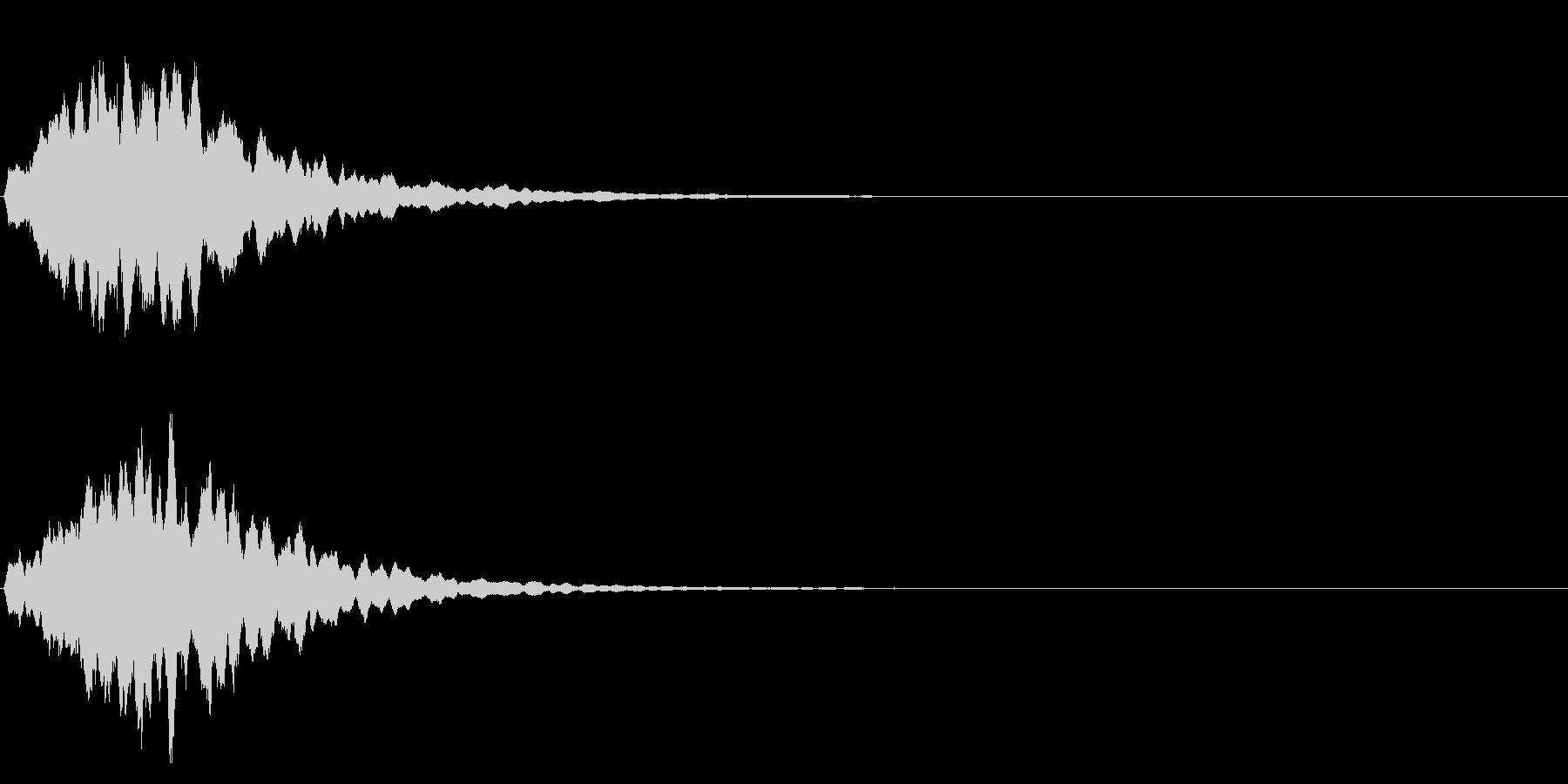 ゲームスタート、決定、ボタン音-004の未再生の波形