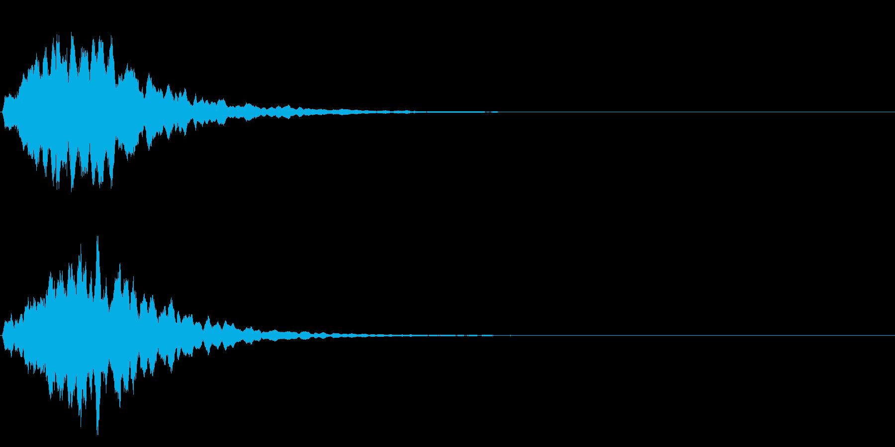 ゲームスタート、決定、ボタン音-004の再生済みの波形