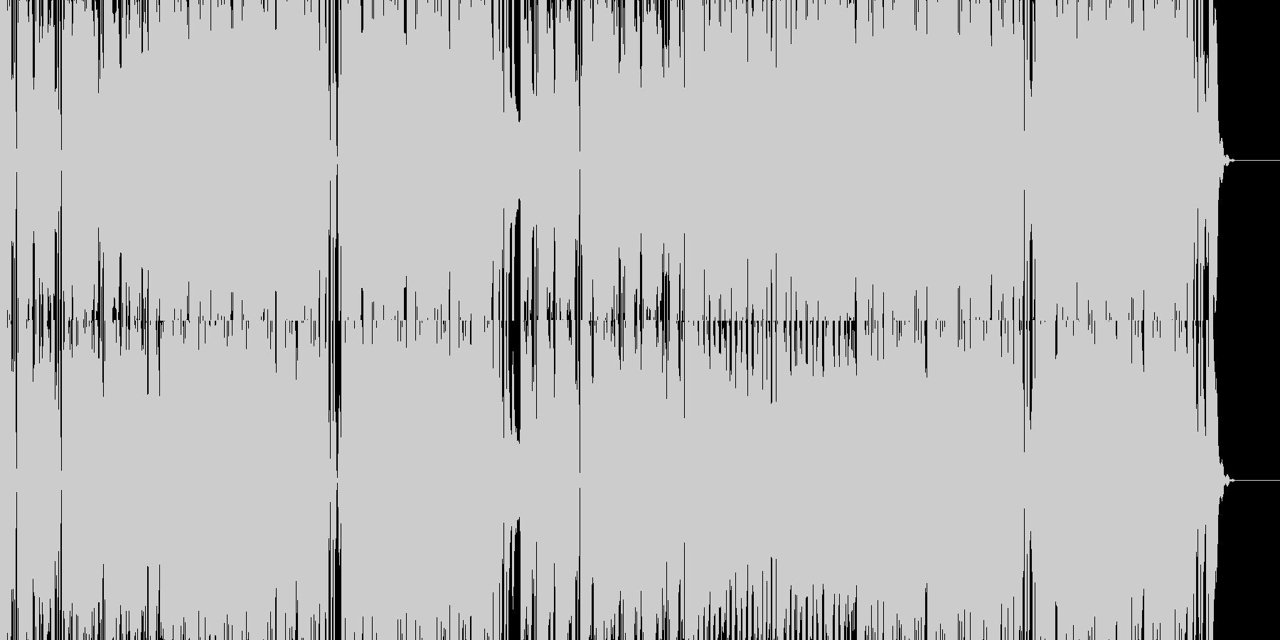 テニスをテーマにコミカルスポーツソングの未再生の波形