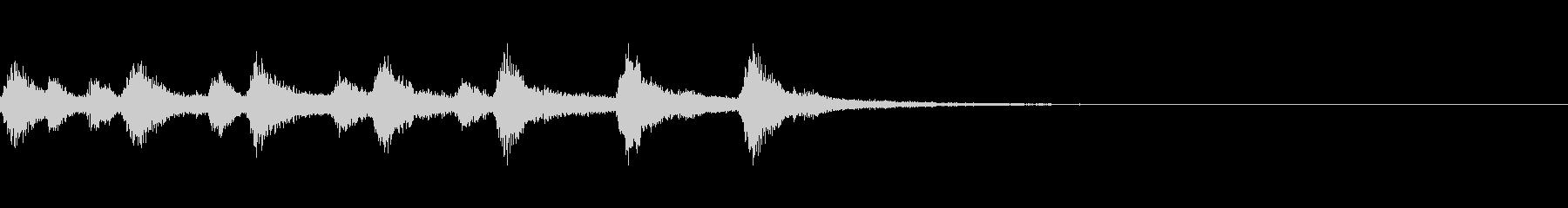 ピッツィカートによるかわいいジングル4の未再生の波形