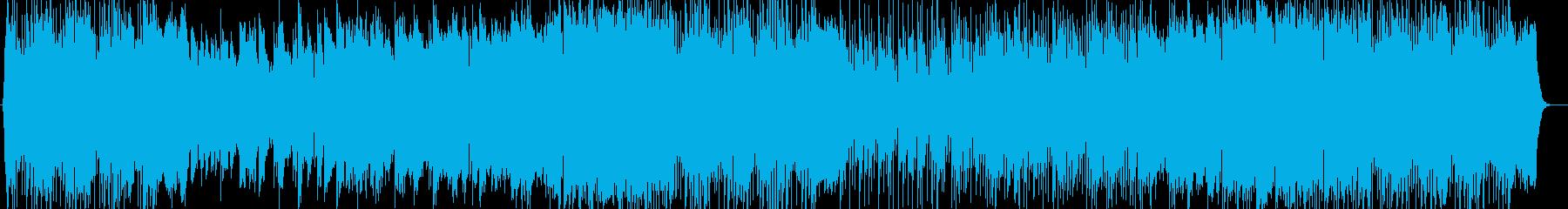 優しく力強いシンセ・ピアノサウンドの再生済みの波形