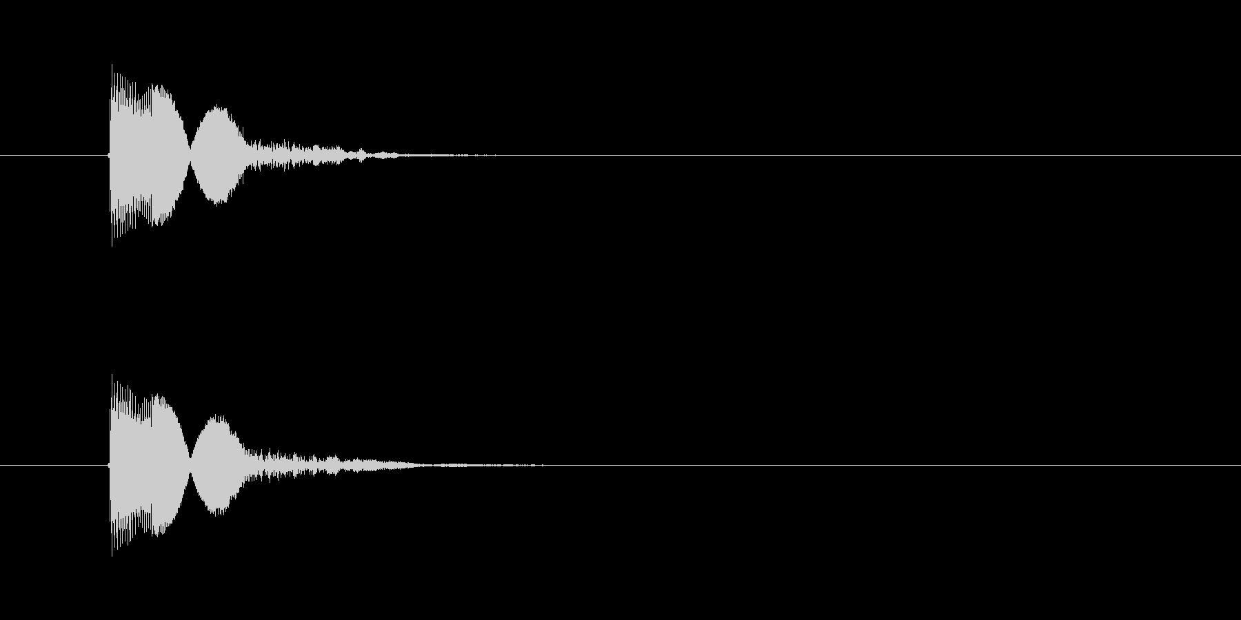 キャンセルや決定ボタンの選択音(ピコン)の未再生の波形