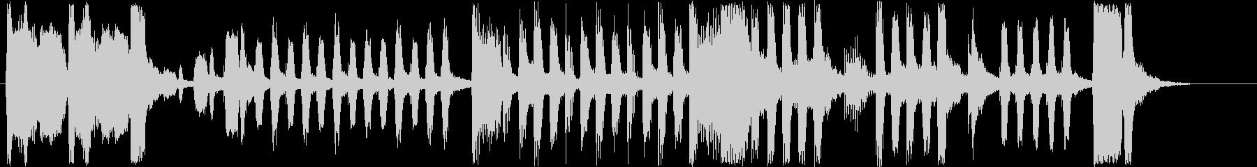 コミカルなオルガンなどのサウンド短めの未再生の波形