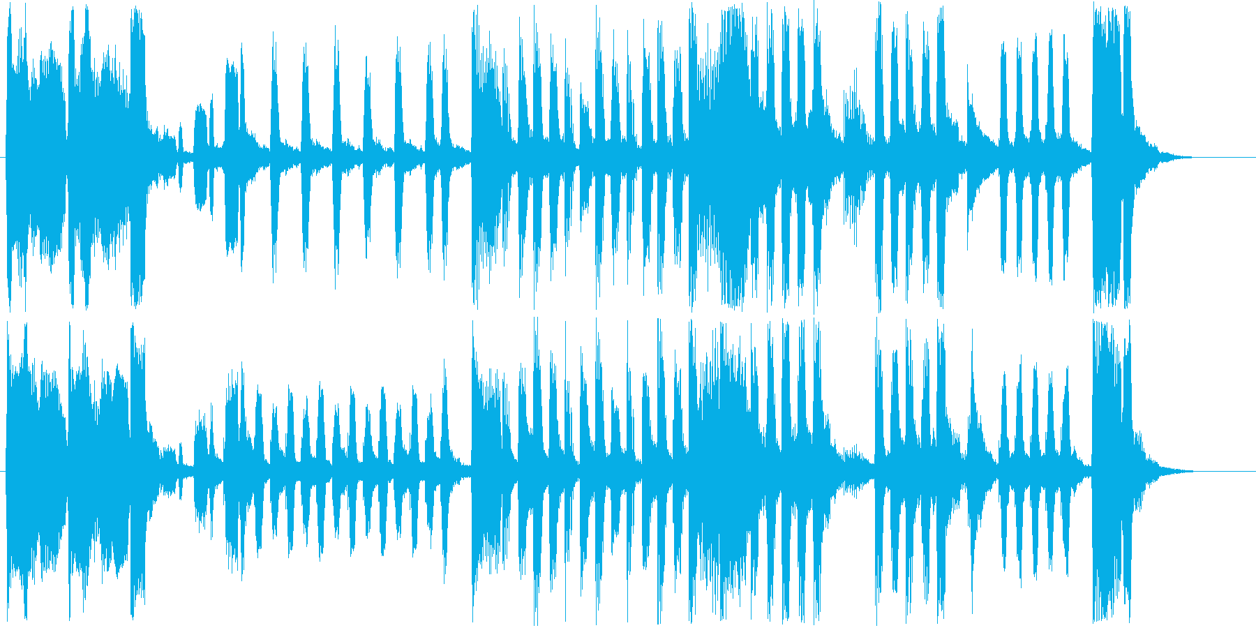 コミカルなオルガンなどのサウンド短めの再生済みの波形