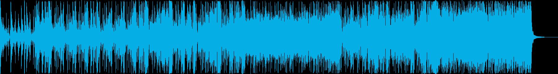 近未来のランニングミュージックの再生済みの波形