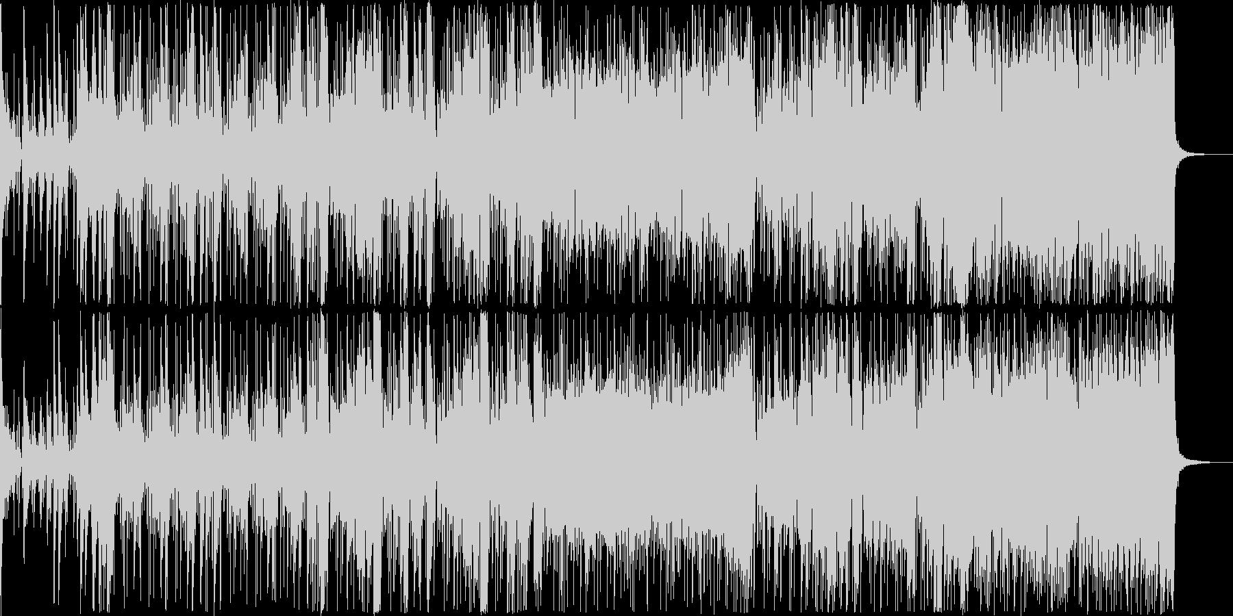 近未来のランニングミュージックの未再生の波形