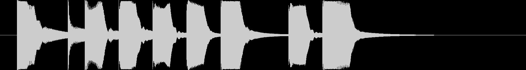 コミカルなベルとリコーダーのジングルの未再生の波形