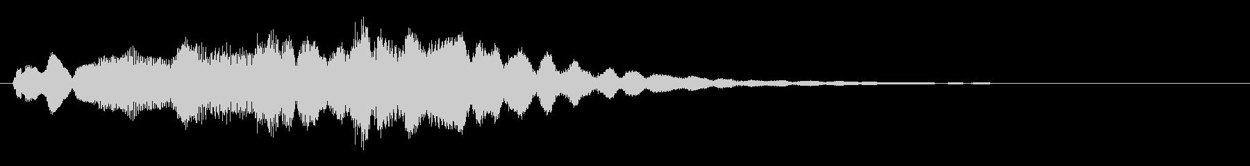 音楽ロゴ;シンセサイザーフルートのみ。の未再生の波形