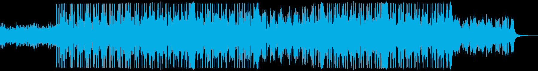 爽やか軽快なストリングスBGMの再生済みの波形