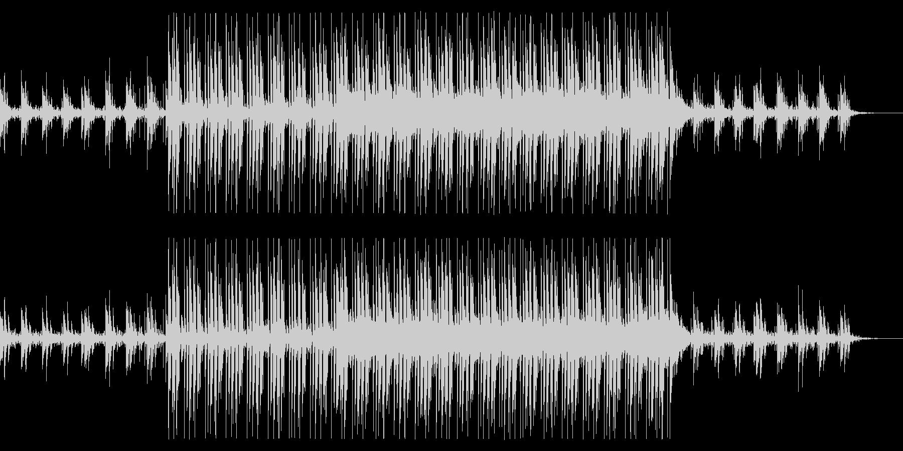 情報番組向けクールなインストの未再生の波形