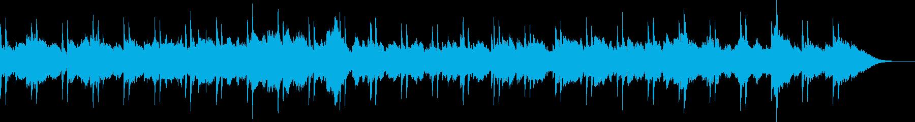 不安・怪しい・鼓動の音のするホラー曲の再生済みの波形