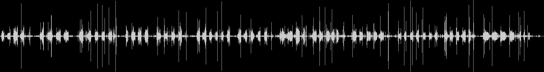 ゆっくりと紙をビリビリちぎる音を収録の未再生の波形