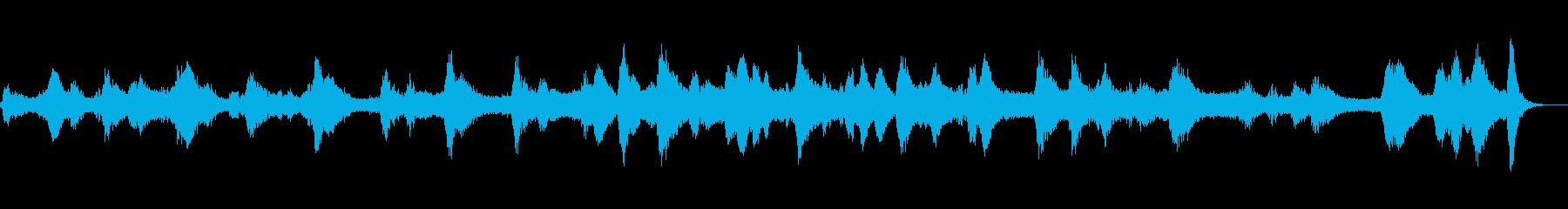 無機質な宇宙をイメージした不思議なBGMの再生済みの波形