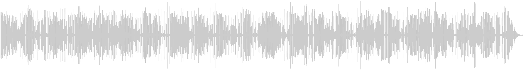 ジャズラウンジのおしゃれなソロピアノの未再生の波形