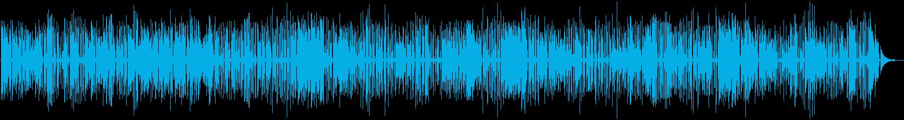 ジャズラウンジのおしゃれなソロピアノの再生済みの波形