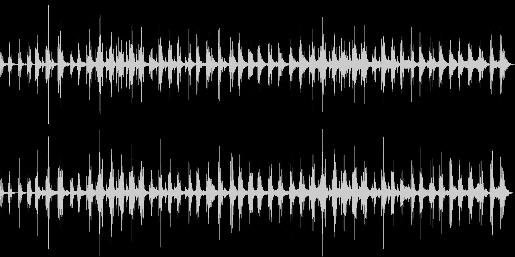 甘美で切ない透明なピアノアンビエントの未再生の波形