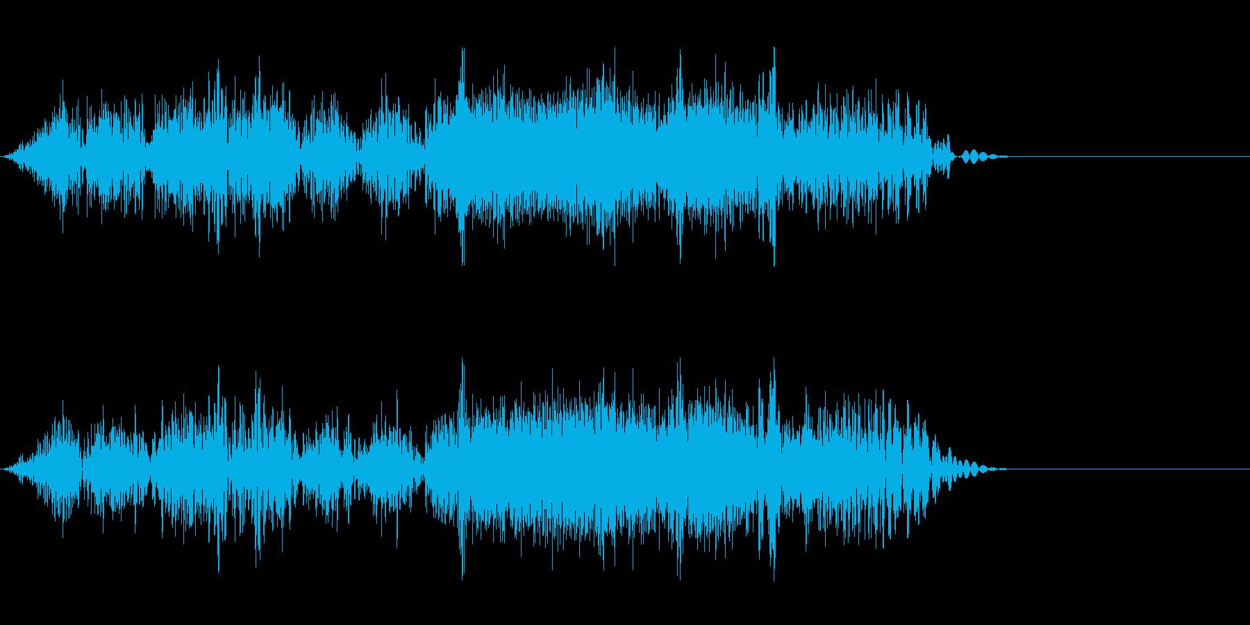 DJスクラッチ03_リバース音03の再生済みの波形
