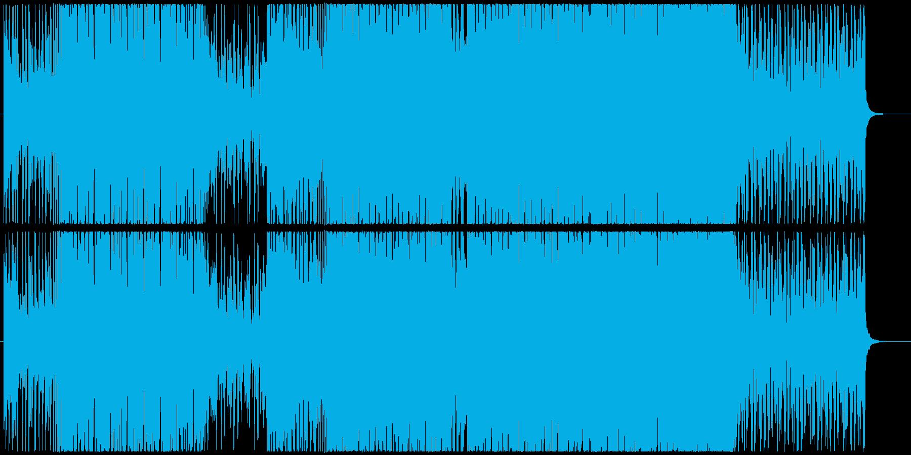 爽快なシンセとギターのファンクエレクトロの再生済みの波形