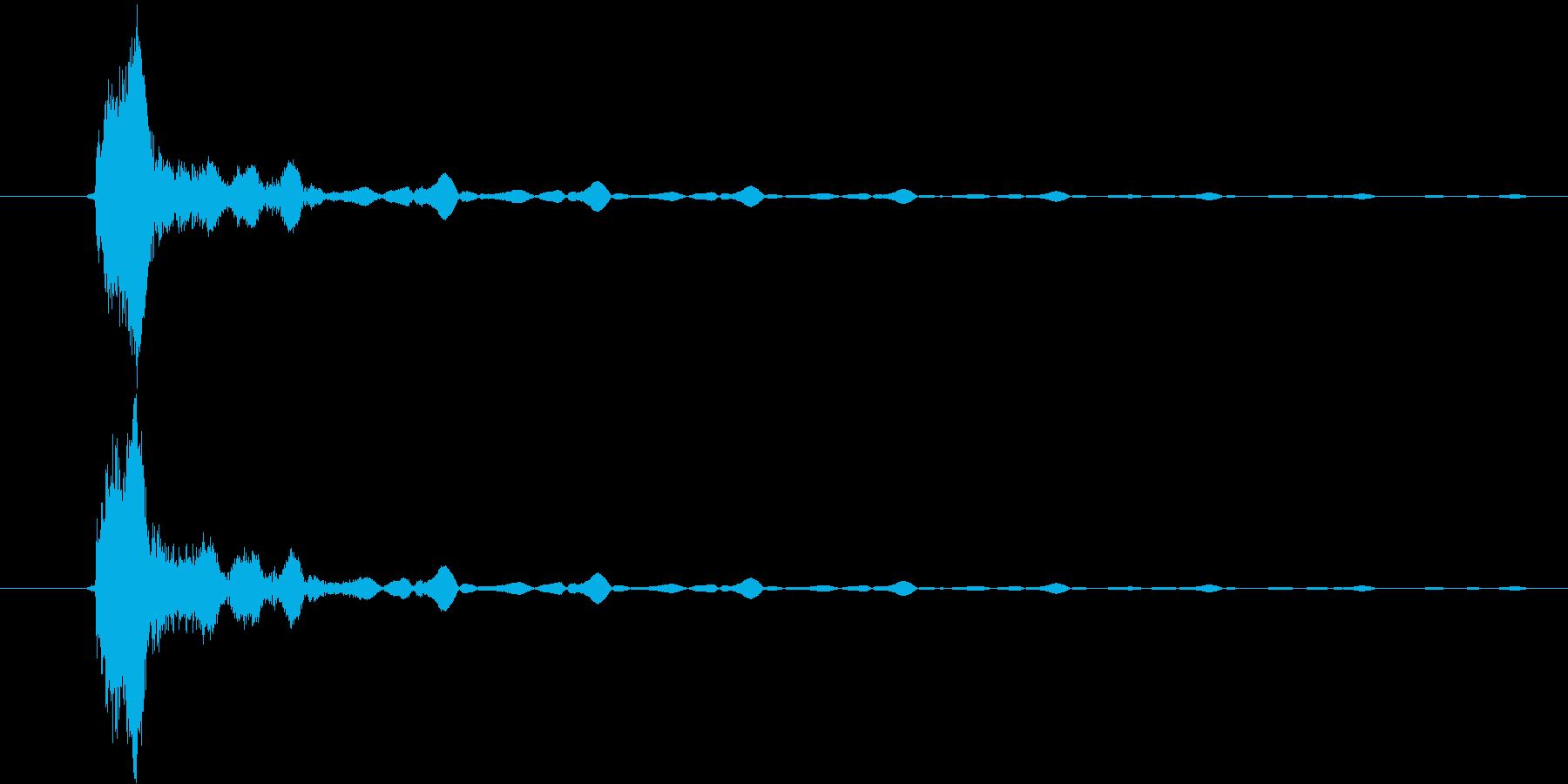 ショットの再生済みの波形