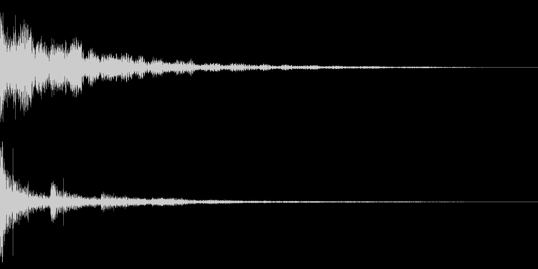 ホラー系アタック音12の未再生の波形