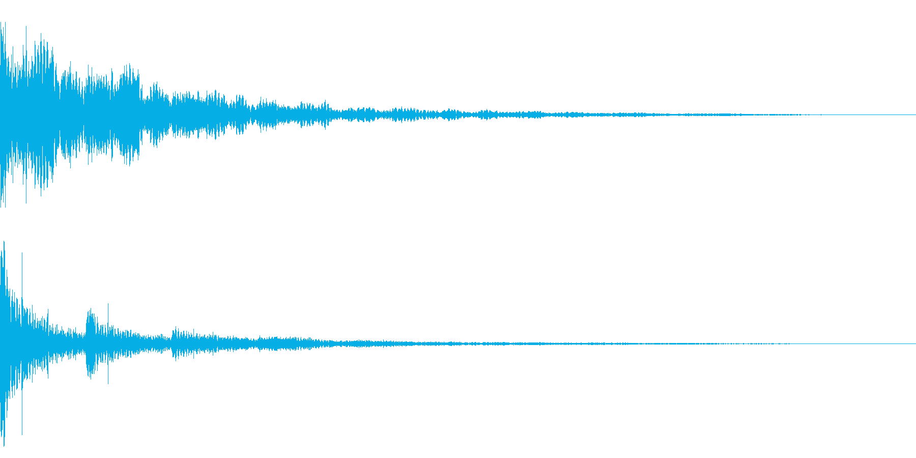 ホラー系アタック音12の再生済みの波形