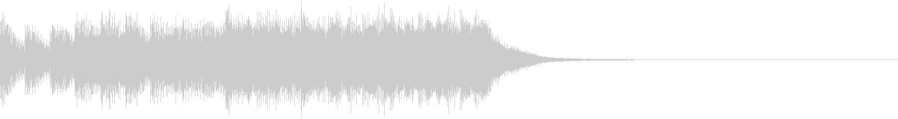 ファミコン風 レトロ ファンファーレ Dの未再生の波形