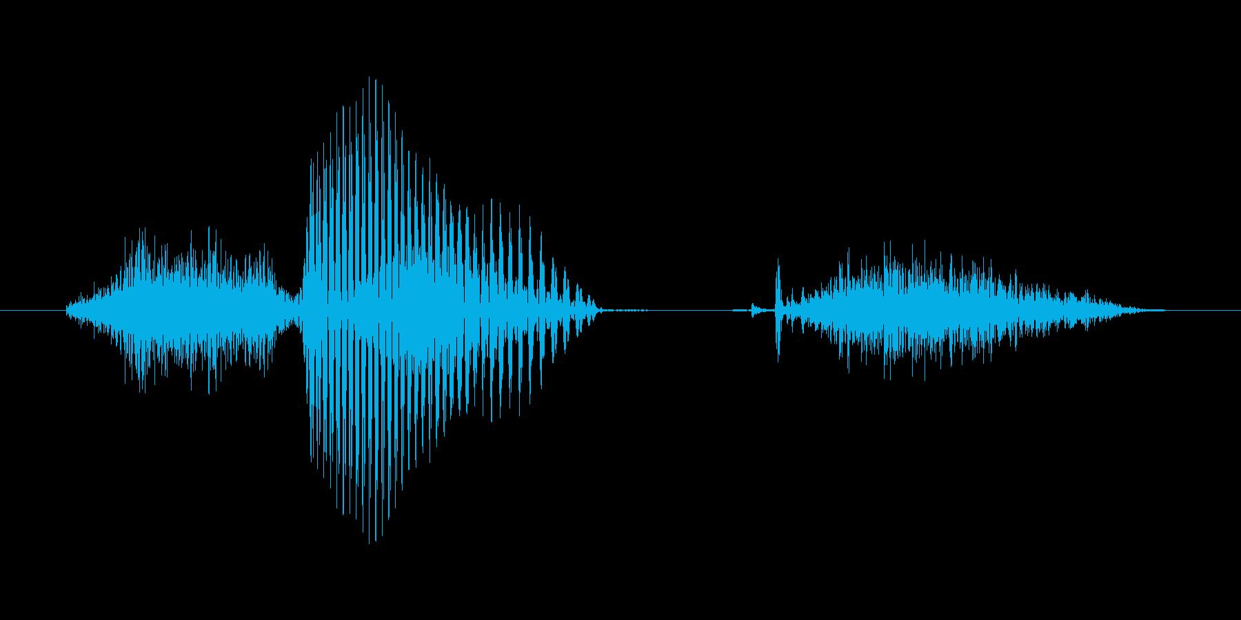 6 (six, 英語、米国女性声優K1)の再生済みの波形