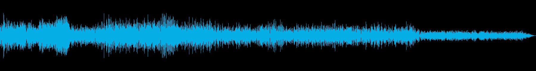 バキューン(SFな銃撃音)の再生済みの波形