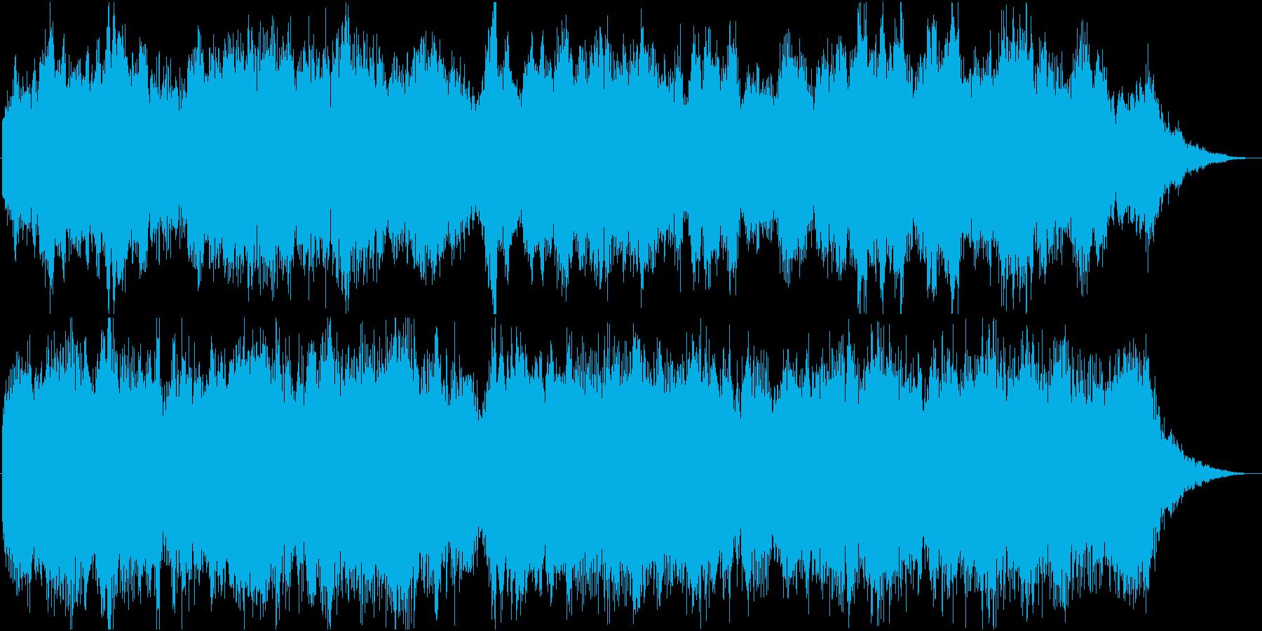 夢の中等の幻想的な雰囲気の約30秒の曲の再生済みの波形