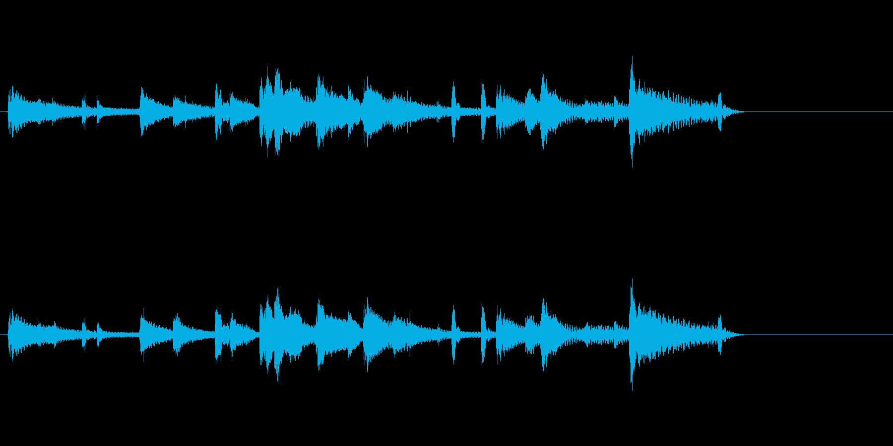 ジャズジングル出囃子音源の再生済みの波形
