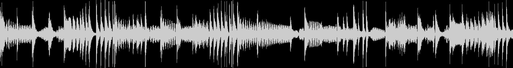 808系HIPHOPリズムループの未再生の波形