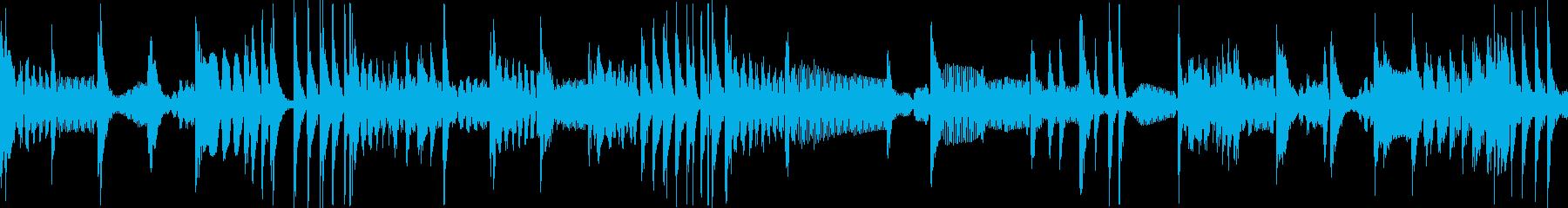 808系HIPHOPリズムループの再生済みの波形