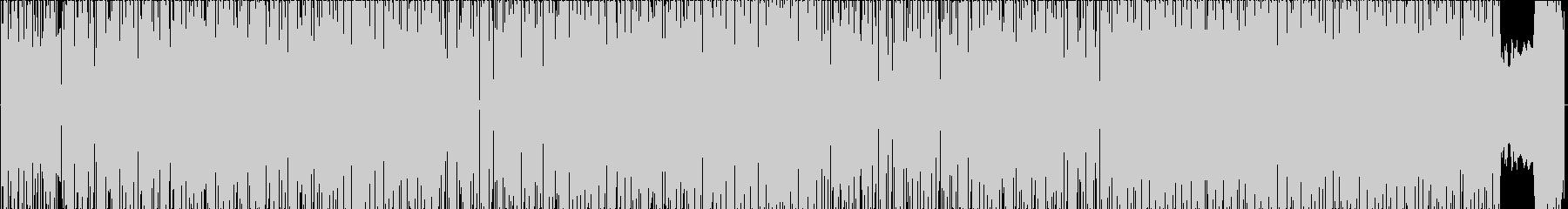 疾走感のあるヒップホップトラックの未再生の波形