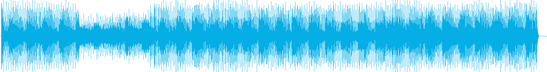 格闘技系ゲームテクノ風サウンドの再生済みの波形