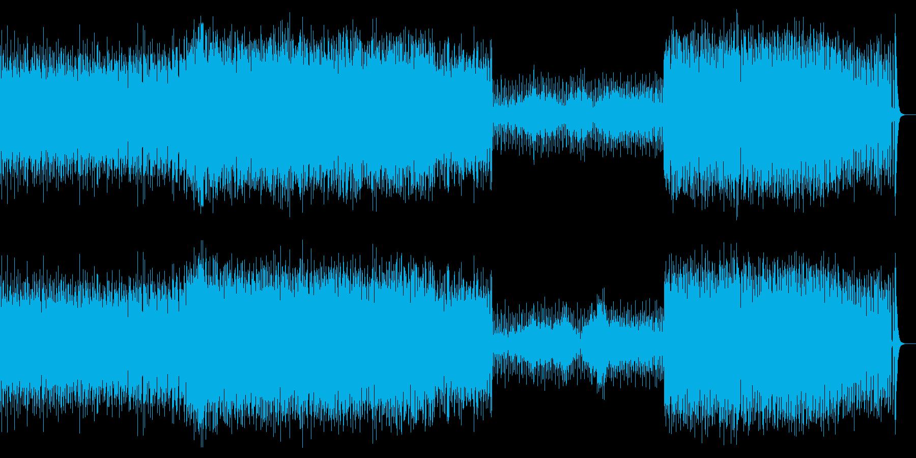 近未来感があるEDMの再生済みの波形