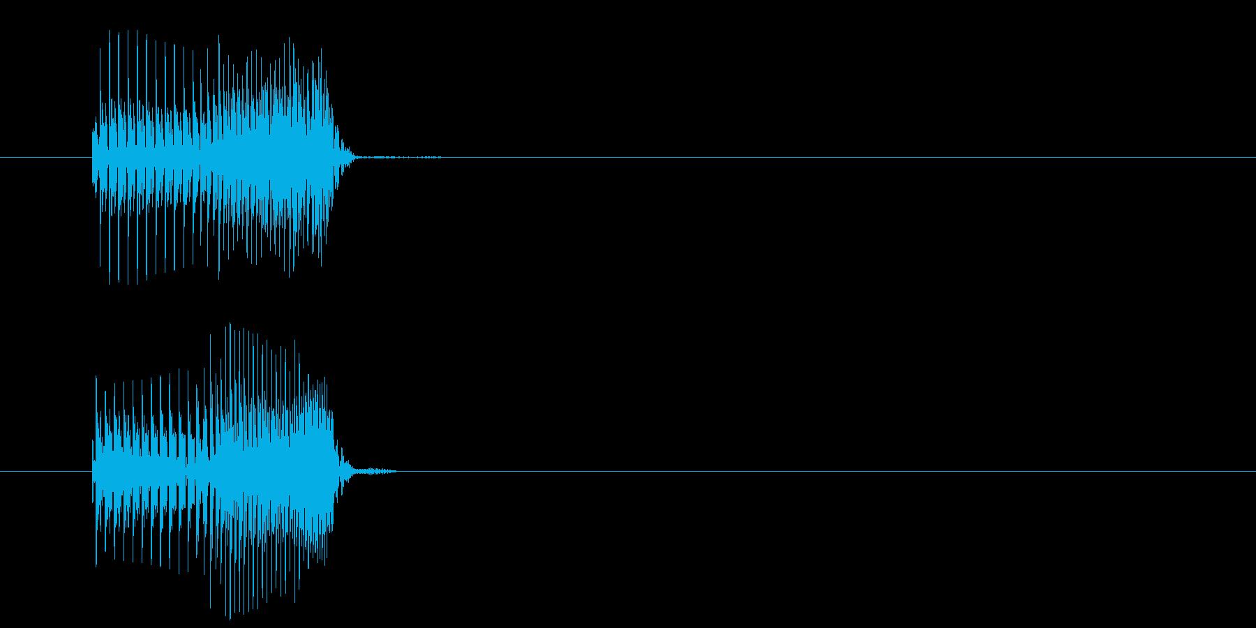 コミカルなジャンプの再生済みの波形