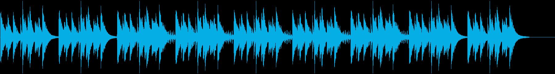 大人っぽい艶やかなピアノBGMの再生済みの波形