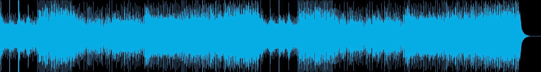 お祭りっぽい津軽三味線ロックの再生済みの波形