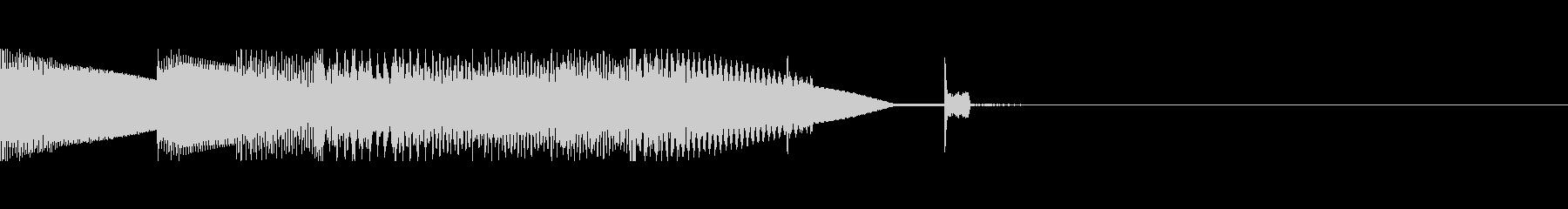 ファミコン風の明るいサウンドロゴの未再生の波形