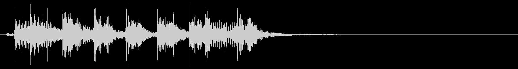 インパクトあるロックなジングル30の未再生の波形
