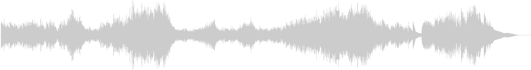 スピーディーで緊迫感のあるピアノ曲の未再生の波形