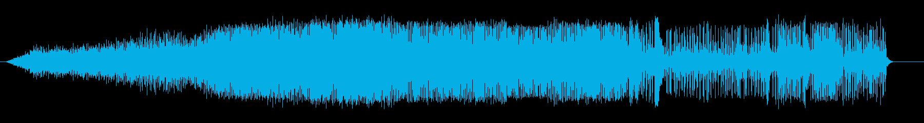 ドラッグボート;アイドル/回転/オ...の再生済みの波形