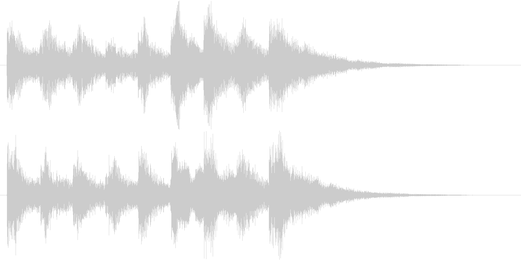 アイテムゲットやクエストクリアのSE の未再生の波形