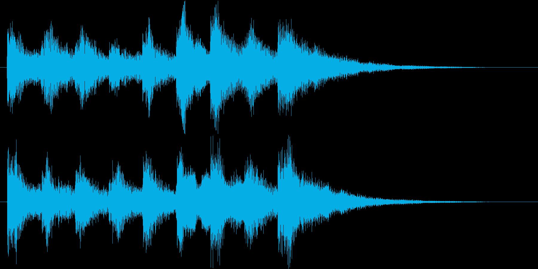 アイテムゲットやクエストクリアのSE の再生済みの波形